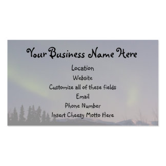 Ghostly Glow Promotional Business Card