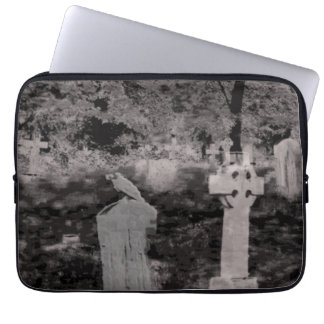 Ghostly Graveyard Neoprene Laptop Sleeve