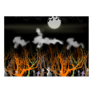 Ghostly Graveyard Scene Business Card