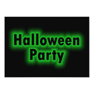 Ghostly Green Halloween Party Invitation