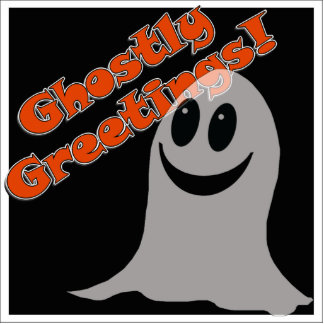 Ghostly Greetings~! Cute Halloween Cartoon Ghost Acrylic Cut Outs