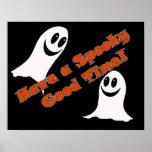 Ghostly Greetings~! Cute Halloween Cartoon Ghost Print