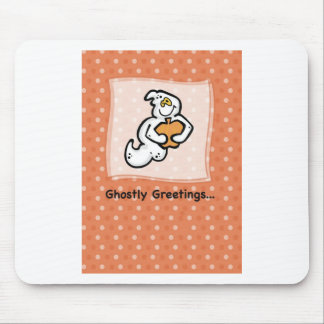 Ghostly Greetings on Halloween Mouse Pads