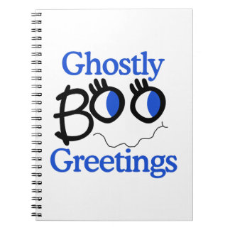 Ghostly Greetings Spiral Notebooks