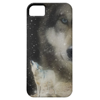 Ghostly Grey Wolves iPhone 5 Case