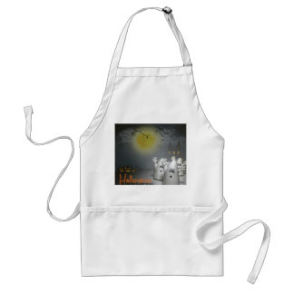 Ghostly Halloween Adult Apron
