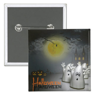Ghostly Halloween Button