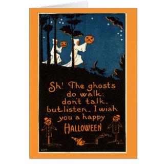 Ghostly Halloween Card