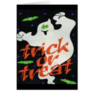 Ghostly Halloween - Halloween Greeting Card