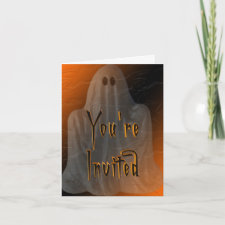 Ghostly Halloween Invitation card