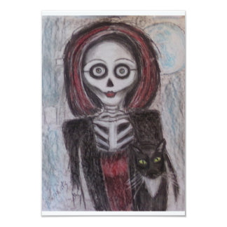 Ghostly Halloween Party Card