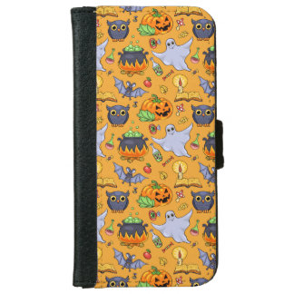 Ghostly Halloween Pattern iPhone 6/6s Wallet Case