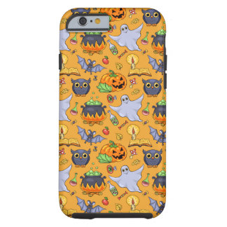 Ghostly Halloween Pattern Tough iPhone 6 Case