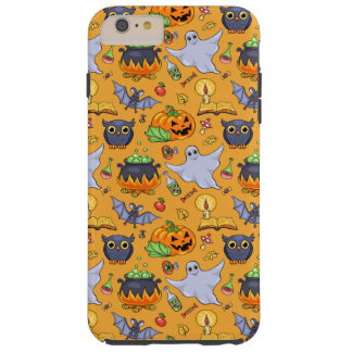Ghostly Halloween Pattern Tough iPhone 6 Plus Case