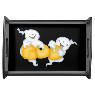 Ghostly Halloween Serving Tray