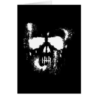 Ghostly Halloween Skull Silhouette Card