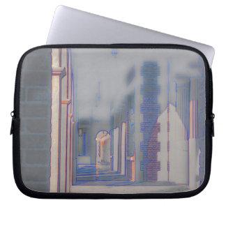 Ghostly Hallway Laptop Sleeve