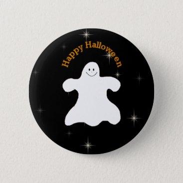 Halloween Themed Ghostly Happy Halloween Pin