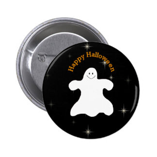 Ghostly Happy Halloween Pin