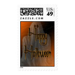 Ghostly Happy Halloween Postage