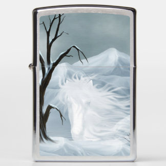 Ghostly horse face zippo lighter