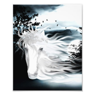Ghostly horse photo print