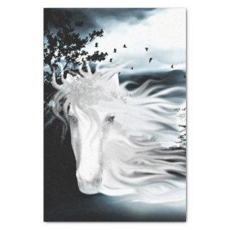 "ghostly horse spirit 10"" x 15"" tissue paper"