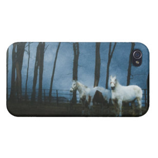 Ghostly Horses at Midnight iPhone 4/4S Cover