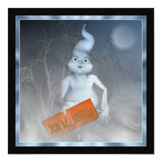 Ghostly Invite Halloween Party Invitation