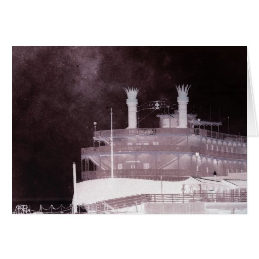 Ghostly Ship Greeting Card