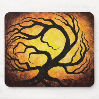 Ghostly tree mouse pad
