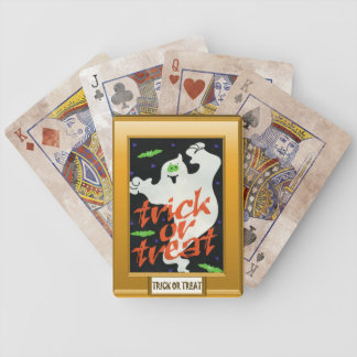 Ghostly Trick or treat Bicycle Playing Cards