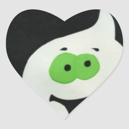 Ghostly Trick or treat Heart Sticker