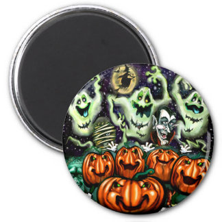 Ghostly Trio Pumpkins Party Magnet