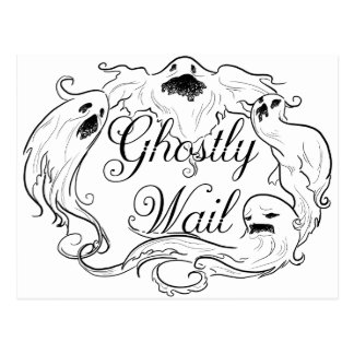 Ghostly Wail Postcard