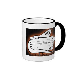 Ghostly Welcome Halloween Ringer Coffee Mug