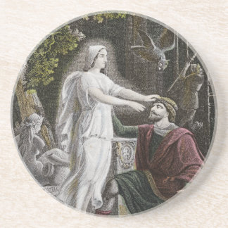 Ghostly Woman Drink Coaster