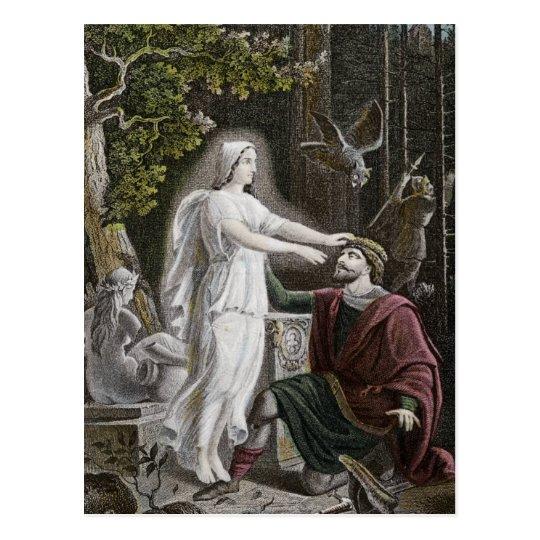Ghostly Woman Postcard