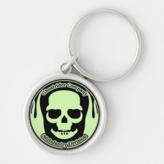 Ghostrider Deluxe Keyring (Small) Silver-Colored Round Keychain
