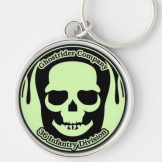 Ghostrider Keyring (Large) Silver-Colored Round Keychain