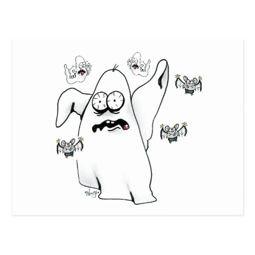 Ghosts and Bats Gang Postcard