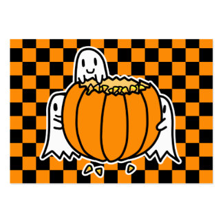 Ghosts and Pumpkin Halloween card Large Business Cards (Pack Of 100)