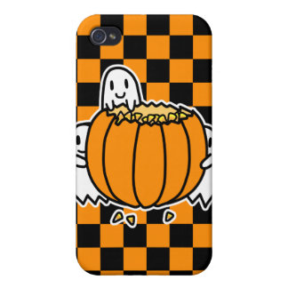 Ghosts and Pumpkin Case For iPhone 4