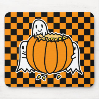 Ghosts and Pumpkin Mouse Pad