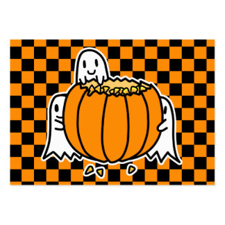 Ghosts and Pumpkin pocket calendar 2012 Large Business Cards (Pack Of 100)