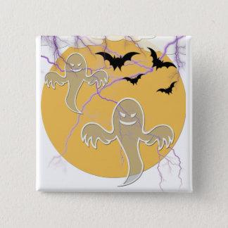 ghosts,bats,lightening halloween pinback button