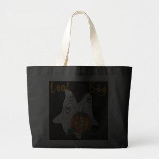 GHOSTS, CAT & PUMPKIN  LOOT BAG by SHARON SHARPE