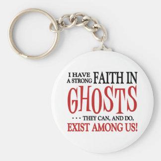 Ghosts Exist Basic Round Button Keychain