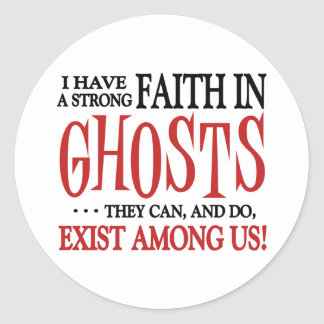 Ghosts Exist Classic Round Sticker