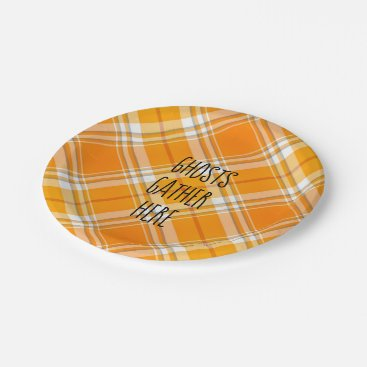 Halloween Themed Ghosts Gather Here Halloween Autumn Party Plates